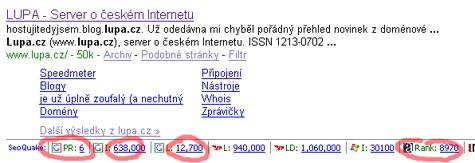Lupa.cz SEO