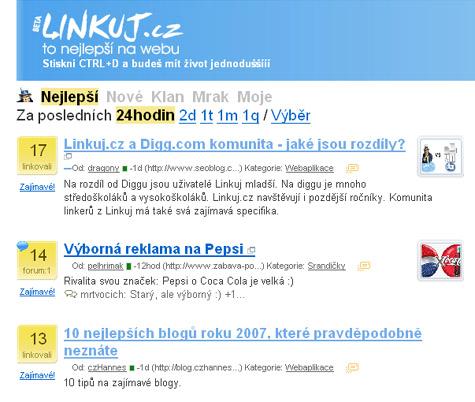 SEO blog a Linkuj.cz